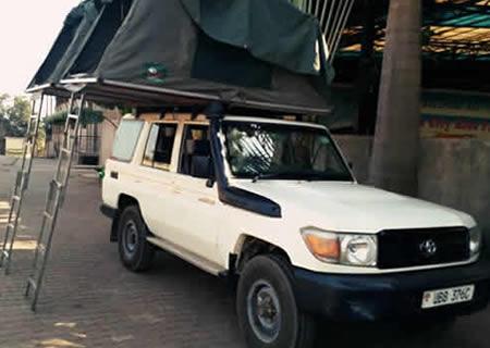 Double Roof Top Tent Car Rental in Rwanda