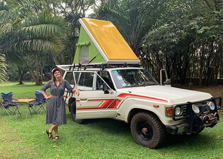 Land Cruiser with Roof Tent in Rwanda
