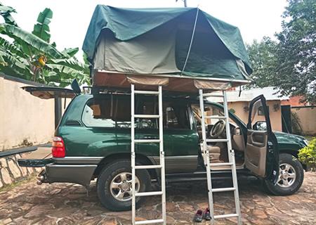 Family Roof Top Tent Car Hire Rwanda